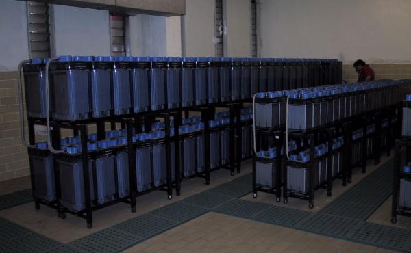 prove di autonomia, sala batterie centrale termoelettrica