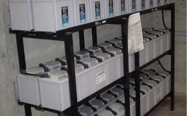 banco batterie UPS per cabina elettrica soccorritore